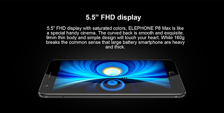4cf0bfd2ffd4929d8bf68d12395f9824 Elephone Elephone Smartphone P8 MAX 4GB RAM 64GB ROM 1.5GHz Octa Core 5.5 Inch 2.5D Sharp FHD Screen Android 7.0 4G LTE