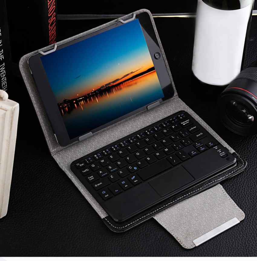 Fashion 3 In 1 Universal Wireless Bluetooth Keyboard Touch Control Tablet Protective Case With Stander For IOS / Windows 7 / 8 Inch NOT Include Tablet price in nigeria