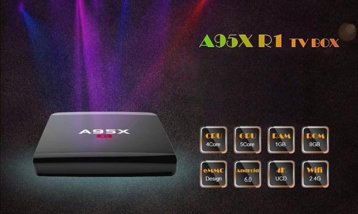 Generic A95X R1 TV Box 2.4GHz Quad Core Android 6.0  1GB+8GB price in Nigeria