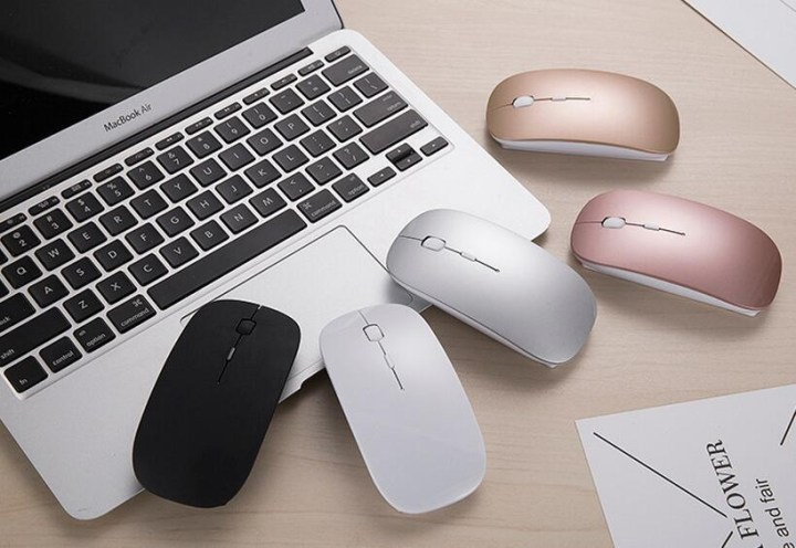 Generic 2.4G Wireless Mouse Rechargeable Bluetooth Mice For Dell/Hp/Lenovo Ideapad 710s/Acer/Asus Silent Mouse With 3 DPI For PC/Laptop(Silver) price in Nigeria