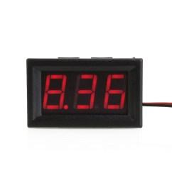 shell color black material plastic display three digit led segment displays led display color red measuring range dc 4 30v limit input dc30 0v  [ 1001 x 1001 Pixel ]