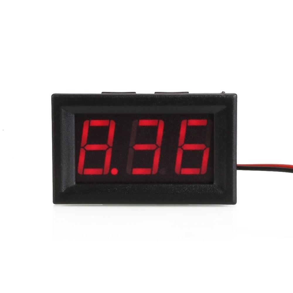 medium resolution of shell color black material plastic display three digit led segment displays led display color red measuring range dc 4 30v limit input dc30 0v