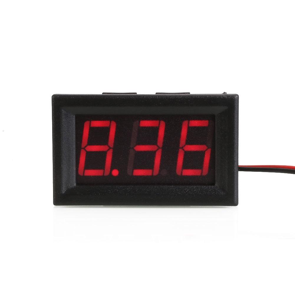 hight resolution of shell color black material plastic display three digit led segment displays led display color red measuring range dc 4 30v limit input dc30 0v