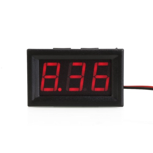 small resolution of shell color black material plastic display three digit led segment displays led display color red measuring range dc 4 30v limit input dc30 0v