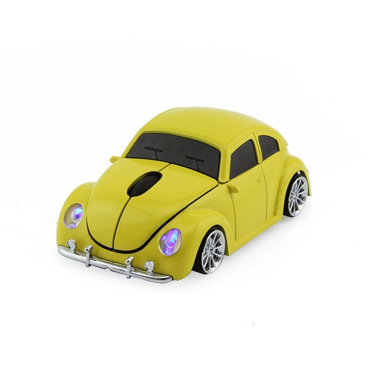 Generic D Xmas USB Optical Wireless Mouse VW Beetle Car Shape Gaming Mouse Beetle Mause For PC Laptop Computer Mice(Blue) price in Nigeria