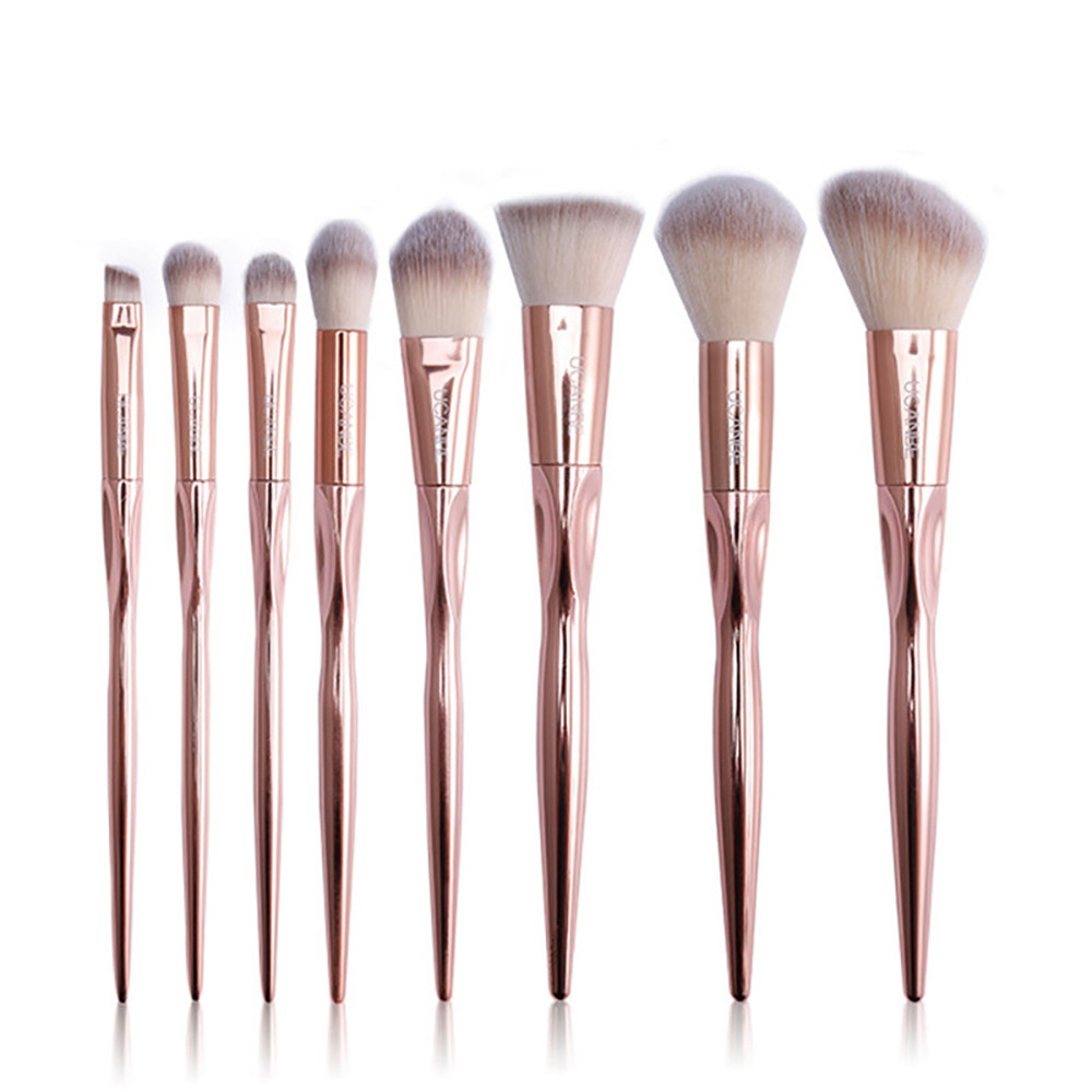 29a74047c77f576d1e981c32de3f4438 Generic 8Pcs/set Makeup Brush Set Tools Make up Toiletry Wool Make Up Brush Set  Gold