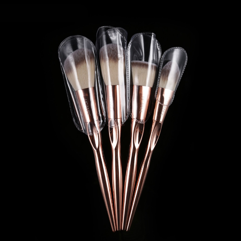 da84a487b68bebb23cc5b2367e3dc00a Generic 8Pcs/set Makeup Brush Set Tools Make up Toiletry Wool Make Up Brush Set  Gold