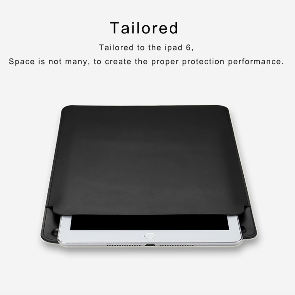 d74f18cf593aeff16735801407b3ec62 Generic Case Cover Bag Leather Sleeve For 12.9 Inch IPad Pro & Storage Apple Pencil