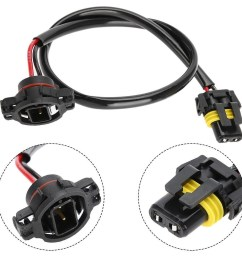 a pair of new 5202 to 9006 power cord conversion harnesses made of heat resistant nylon plugs for vehicles such as subaru brz chevrolet camaro  [ 1001 x 1001 Pixel ]