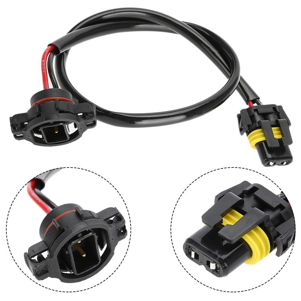 hight resolution of a pair of new 5202 to 9006 power cord conversion harnesses made of heat resistant nylon plugs for vehicles such as subaru brz chevrolet camaro