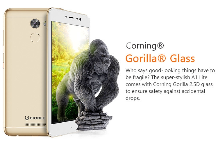 43e36d1b866237615158e1b76591394c Gionee Gionee A1 LITE 3GB RAM 32GB ROM MTK6753 1.3GHz Octa Core 5.3 Inch 2.5D Corning Gorilla Glass 3 HD Screen Android 7.0 4G LTE Smartphone