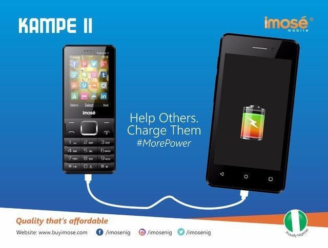 iMose Kampe II 5,000 MAh Power Bank/Dual SIM GSM Phone + Wireless FM Radio   White price on jumia Nigeria via specspricereview.com