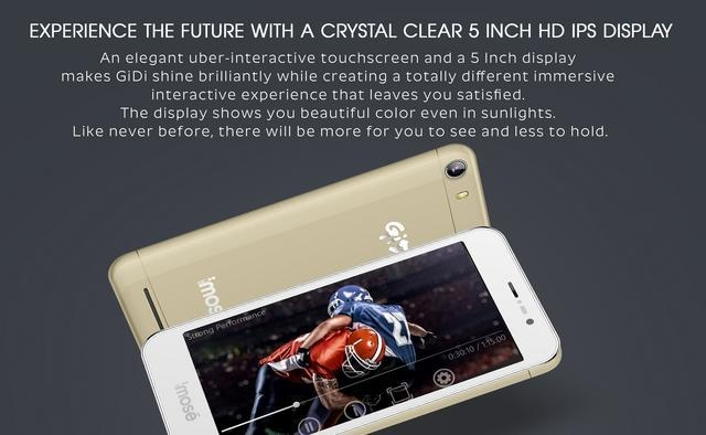 iMose GiDi 5 Inch Android SmartPhone   Gold + 4500 MAh Strong Battery price in Nigeria