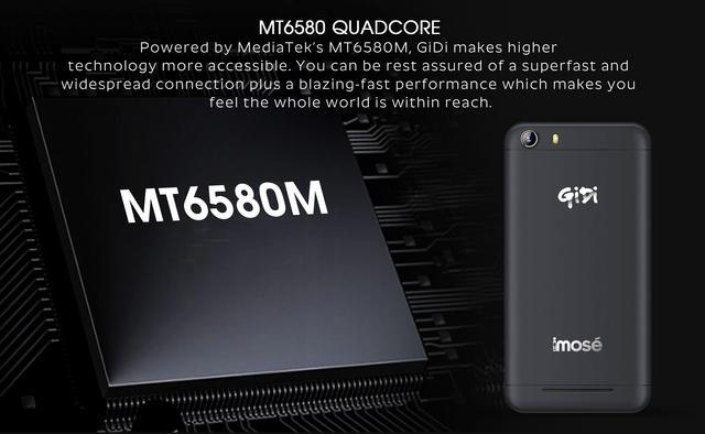 iMose GiDi 5 Inch Android SmartPhone   Black + 4500 MAh Strong Battery price in Nigeria