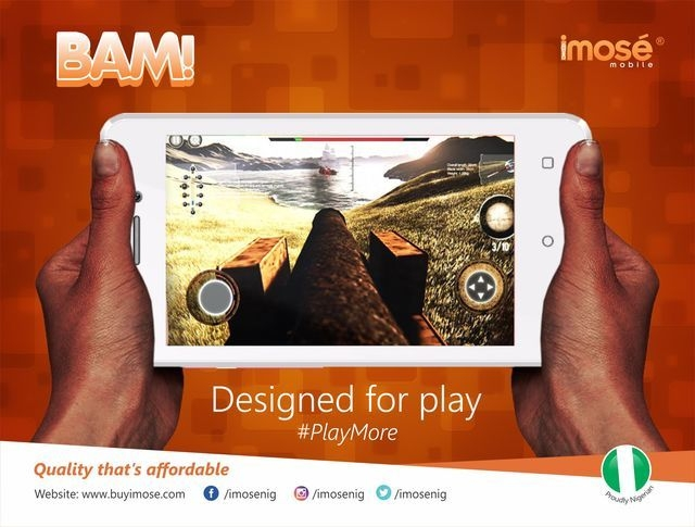 iMose BAM 4 inch (512MB, 4GB ROM) Android 6.0 3MP+1.3MP Smartphone   Gold + Free Leather Flip Case Cover price in Nigeria