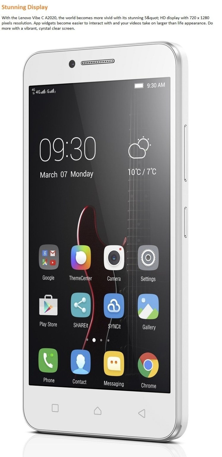 Lenovo Vibe C A2020 Specs  Review And Price In Nigeria