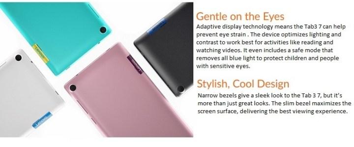 Lenovo Tab 7 Essential 7 Quad Core 1.1GHz (3G,1GB,16GB ROM) Micro SIM Android 7 Nougat Tablet   Black price in Nigeria