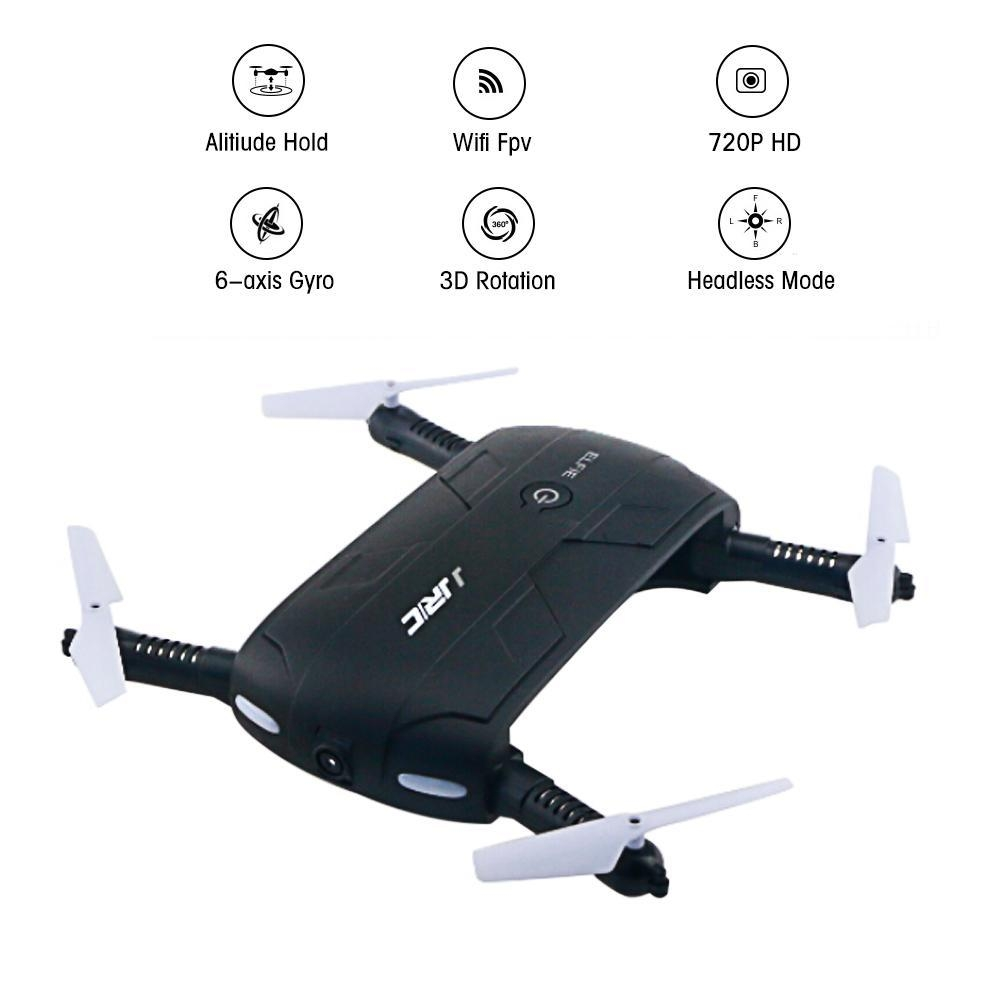 c0f5b25a6f3f5abb59d06e9432582fcf Louis Will Foldable Pocket Selfie Quadcopter Drone With Camera, JJRC H37 Elfie 720P HD Wifi FPV Altitude Hold Headless Mode Phone Control RC Quadcopter