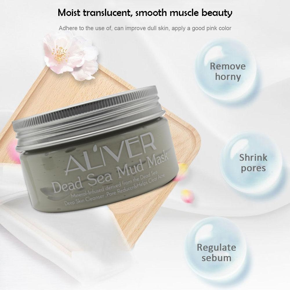 371662be908252c2191815b0cc910894 Louis Will 50ML Dead Sea Mineral Black Mud Pure Athentic Facial Face Body Mask High Quality Deep Sea Purifying Mud Mask, Grey
