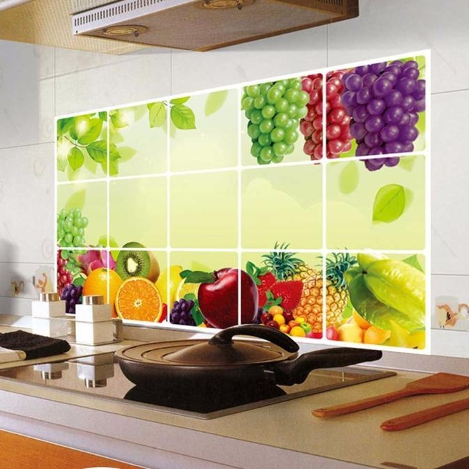 Skywolfeye Kitchen Oilproof Removable Wall Stickers Art Decor Home Decal  Multicolor price in Nigeria