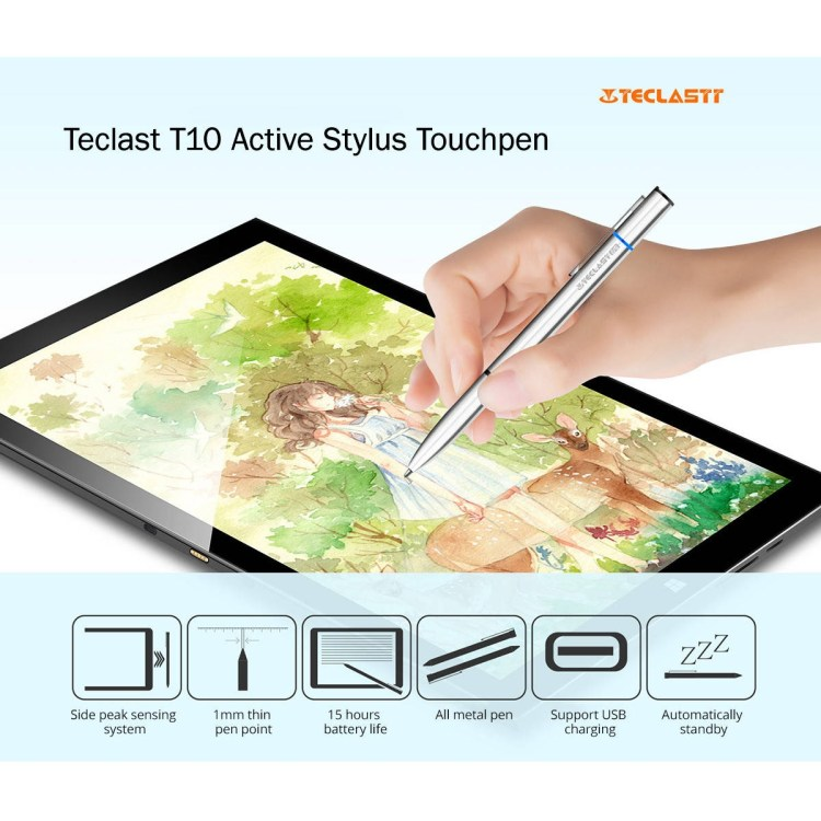 TECLAST TL T10S   Active Stylus Pen With Metal Body   Silver price on jumia Nigeria via specspricereview.com
