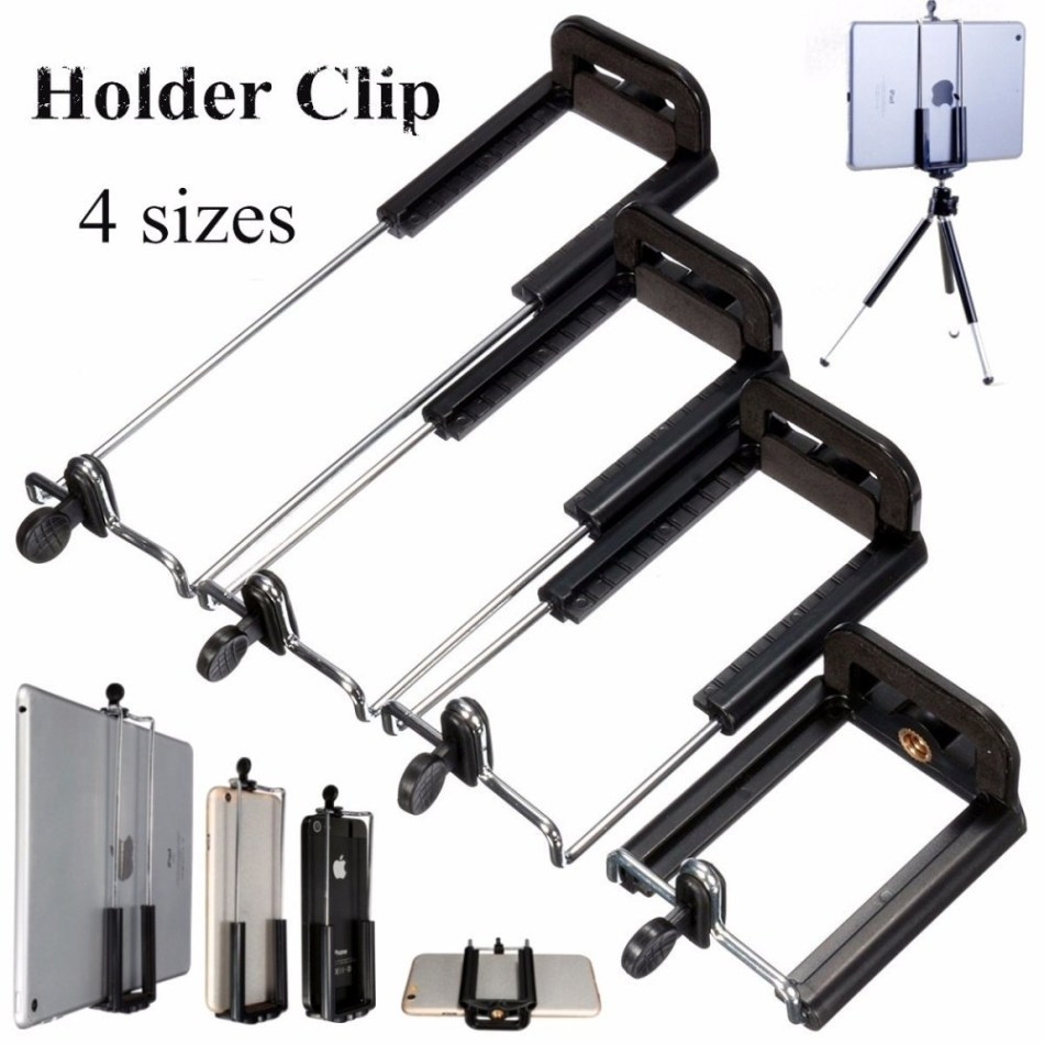 Universal Camera Stand Clip Bracket Holder Monopod Tripod Mount Adapter For Phones&Tablets 55 88mm price on Jumia