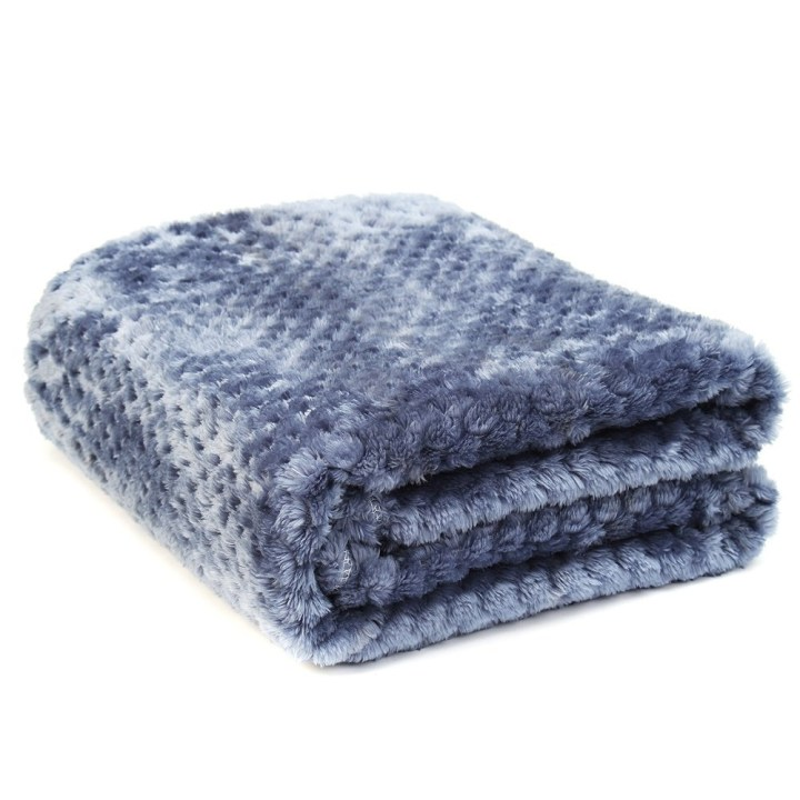 Universal Coral Velvet Super Soft Throws For Rug Sofa Blanket Cover Bed Yoga Bedding Home Smoky Blue price in Nigeria