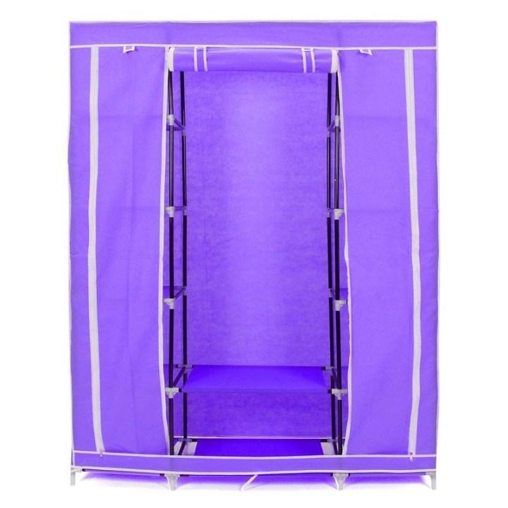 Universal Portable Closet Storage Organizers Wardrobe Clothes Rack Hanger Closet Organizer With Shelves Purple price in Nigeria