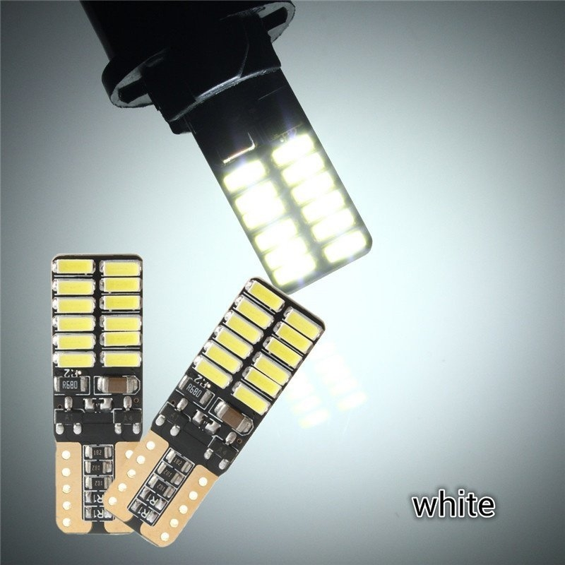 Universal 2Pcs T10 4014 24LED Bulb Dome Map License Plate Light Canbus Error Free White price in Nigeria