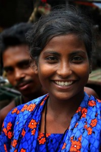 Bangladeshi woman w beautiful smile.