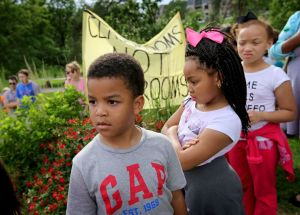 St.Louis kids listen as adults speak against felonies for bullying.5-16    D Carson,