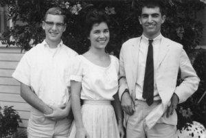 Steven, Barbara, Karl — college years.