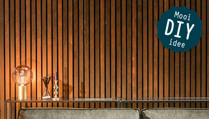 Lattenwand van donker hout  KARWEI