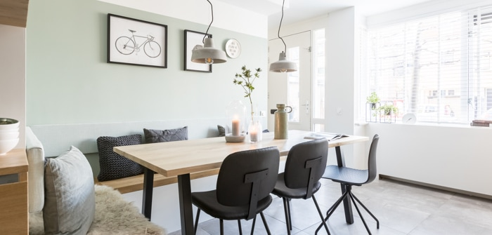 fabulous simple hout beton en zwart zorgen voor een