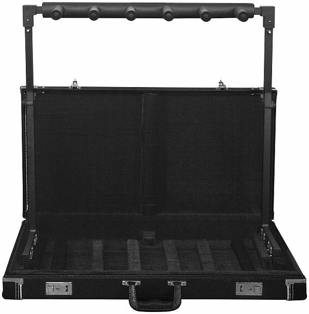 rockstand rs 20850b 5 guitar stand case keymusic