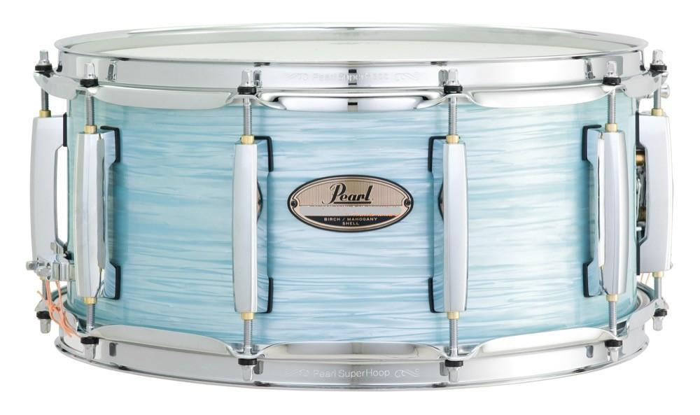 pearl mct1455s masters maple complete snare 14 x6 5 ice blue oyster keymusic