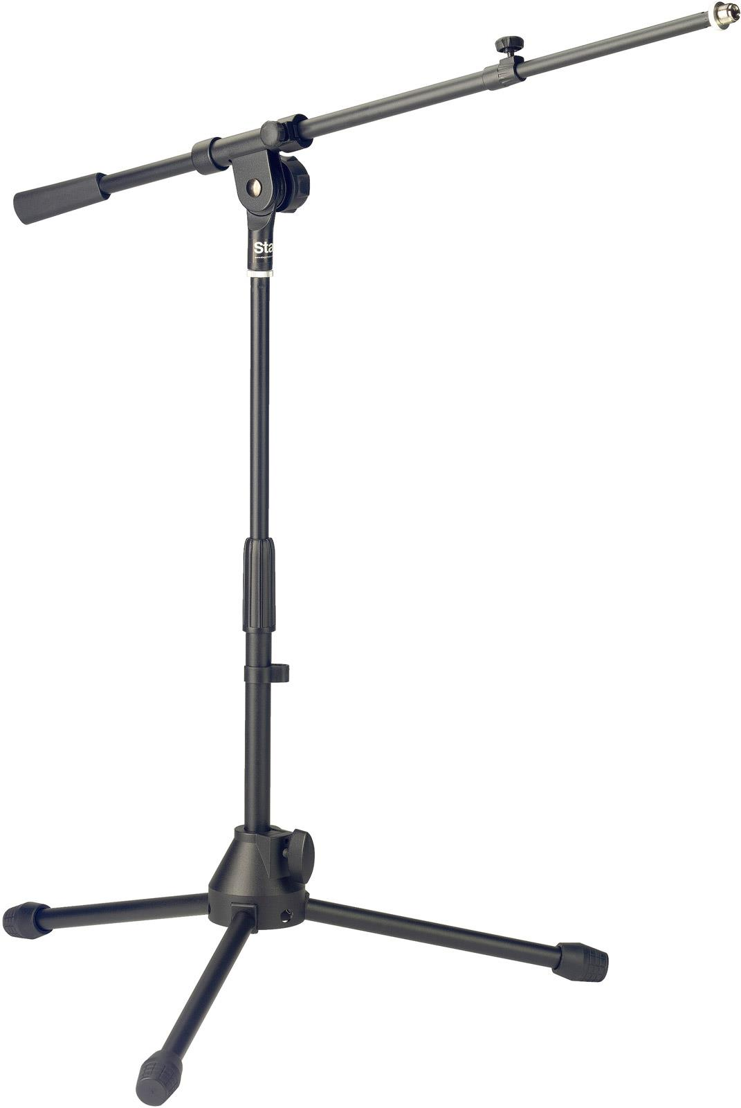 Stagg Mis Bk Low Profile Microphone Stand Telescopic