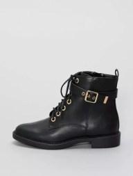 Boots en simili noir Femme