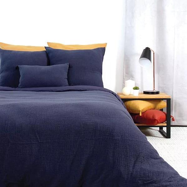 parure de lit en gaze de coton
