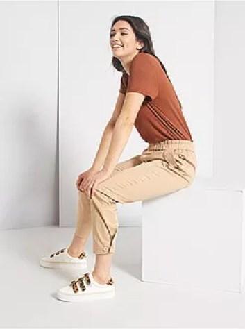 Pantaloni regular à vita elasticizzata - Kiabi