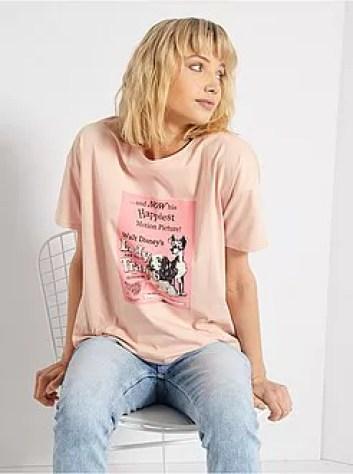 T-shirt con stampa 'La Bella e la Bestia' - Kiabi