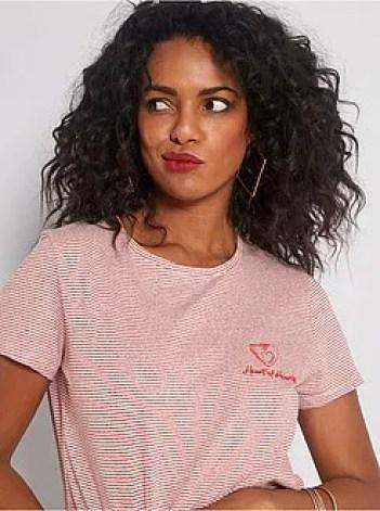 T-shirt ricamata - Kiabi