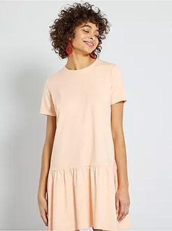 Vestito t-shirt con baschina - Kiabi