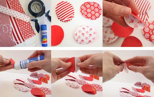 Christmas paper bauble garland  Kidspot