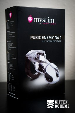 Mystim Public Enemy No 1 Electrosex Cock Cage Packaging