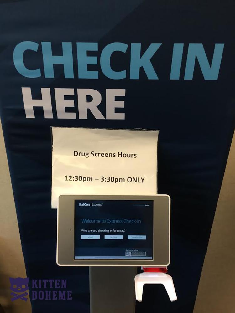 Lab Check In Machine