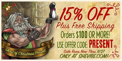 SheVibe Black Friday Sale Banner 15% off plus free shipping