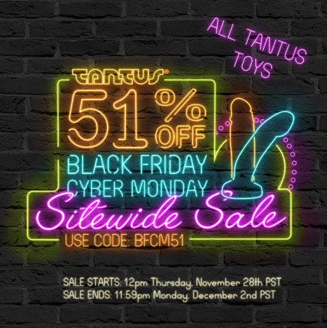 Tantus 51% off Black Friday Cyber Monday Sale