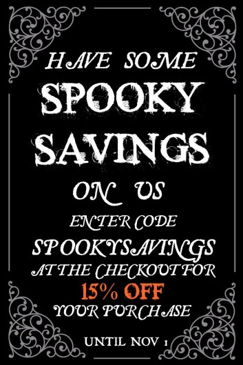 Betty's Toy Box Spooky Savings Sale Halloween