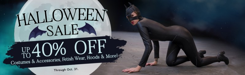 The Stockroom's Halloween Sale Banner